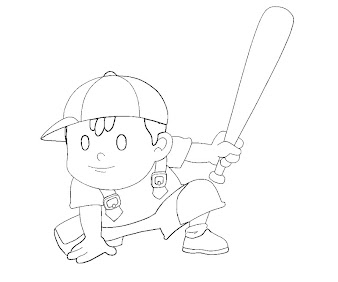 #1 Ness Coloring Page