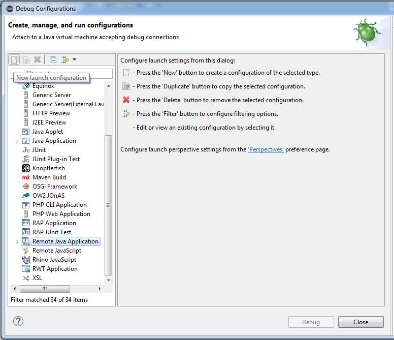 how to start tomcat in debug mode