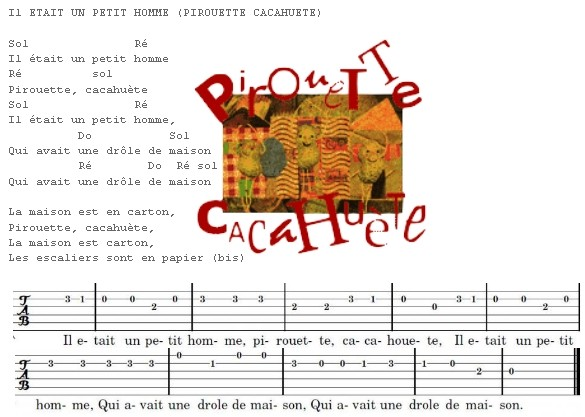Guitare Pirouette Cacahuete