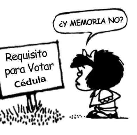 VIENEN YA  LAS ELECCIONES  EL QUITAR A UNO PARA PONER A OTROS PEORES