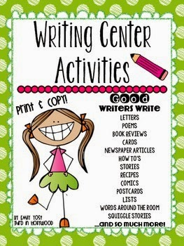 http://www.teacherspayteachers.com/Product/Writing-Center-Activities-1333559