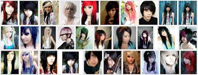 model gaya rambut emo pendek dan panjang pria dan wanita 3