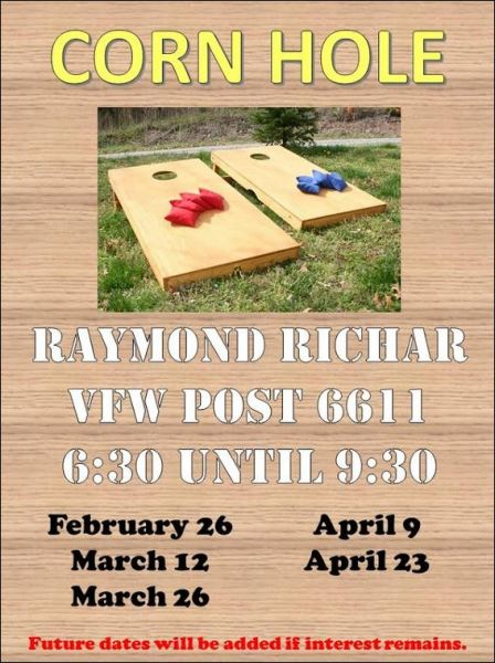 3-26 Corn Hole Galeton VFW