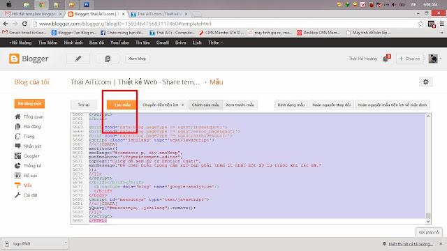 Hướng dẫn tạo blogspot, cài đặt template cho người mới bắt đầu