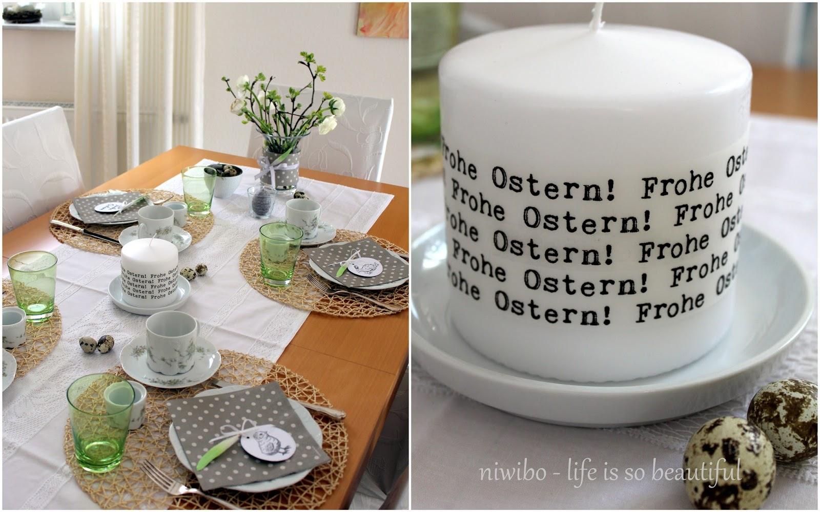 niwibo - life is so beautiful: Last-Minute-Osterdeko DIY und mein ...