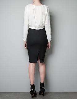 zra siyah beyaz elbise modeli