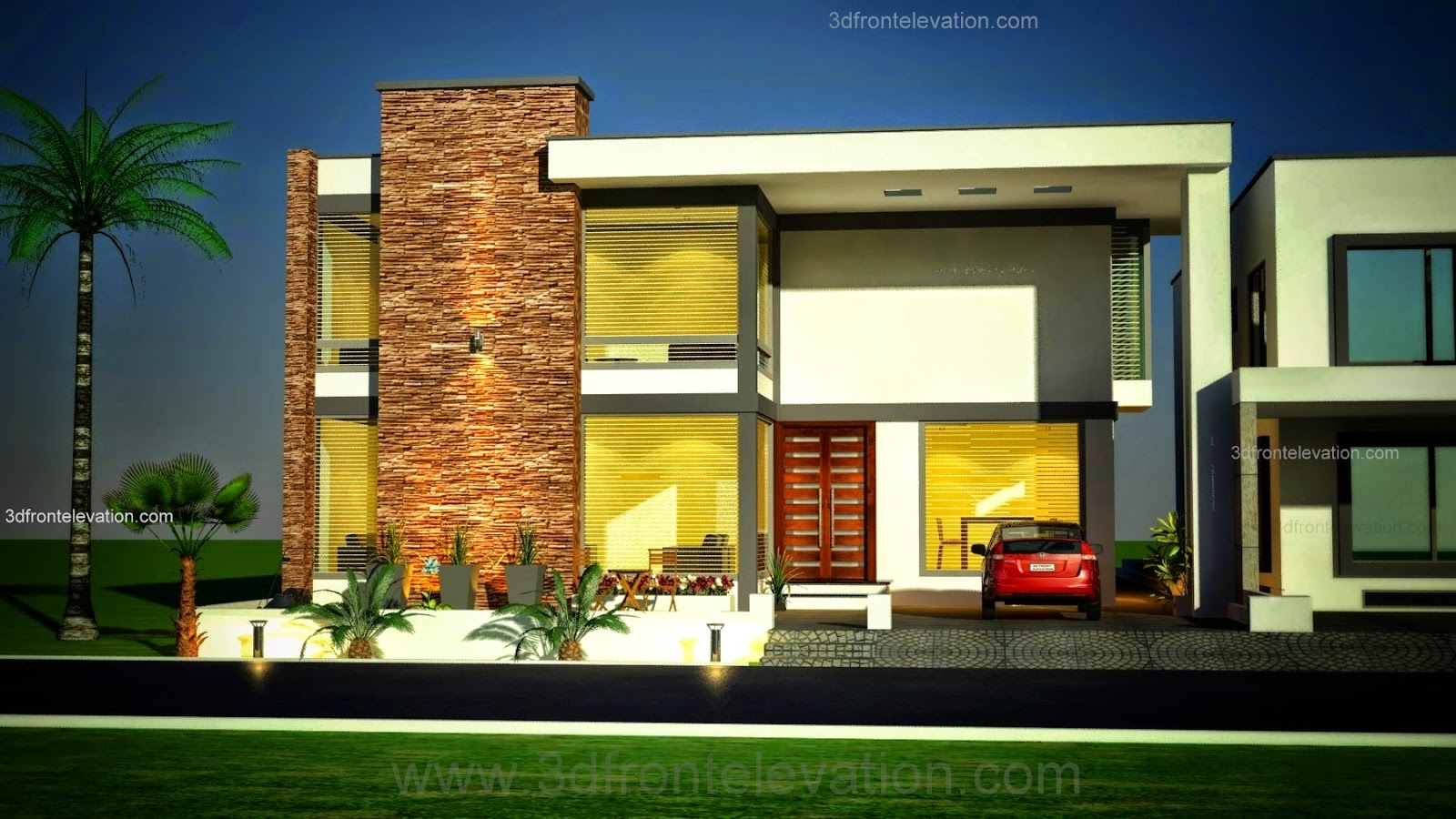 Front Elevation Designs In Karachi : D front elevation kanal modern simple elegant