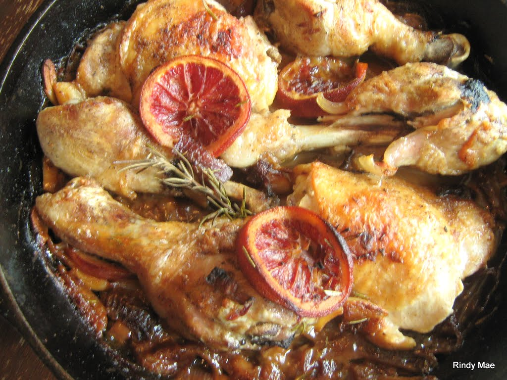 Rindy Mae: Blood Orange & Rosemary Roasted Chicken With White Wine Pan ...