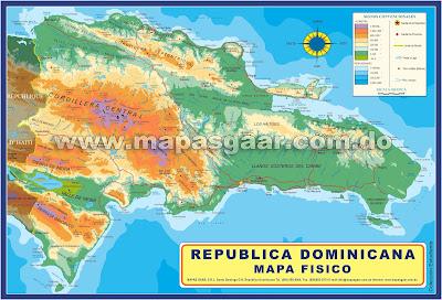 Mapa físico de República Dominicana