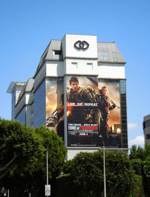Giant Edge of Tomorrow movie billboard