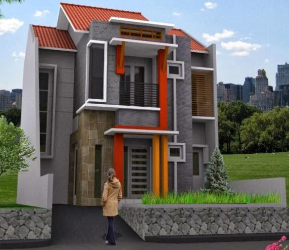 desain rumah minimalis modern 2 lantai terbaru 2014