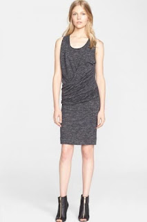 Burberry Brit 'Janey' Sleeveless Drape Front Knit Dress