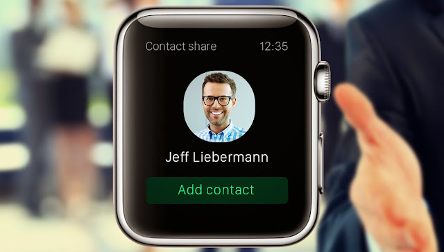 Add contact Apple Watch