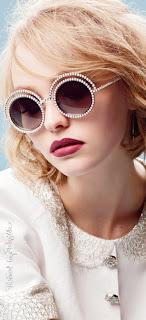 Óculos de sol com estilo Chanel
