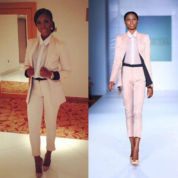 tiwa savage in pantsuit