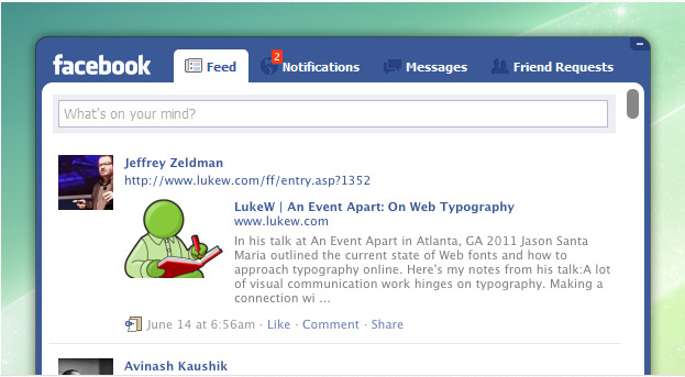 Pokki Facebook Desktop  Application Screenshot