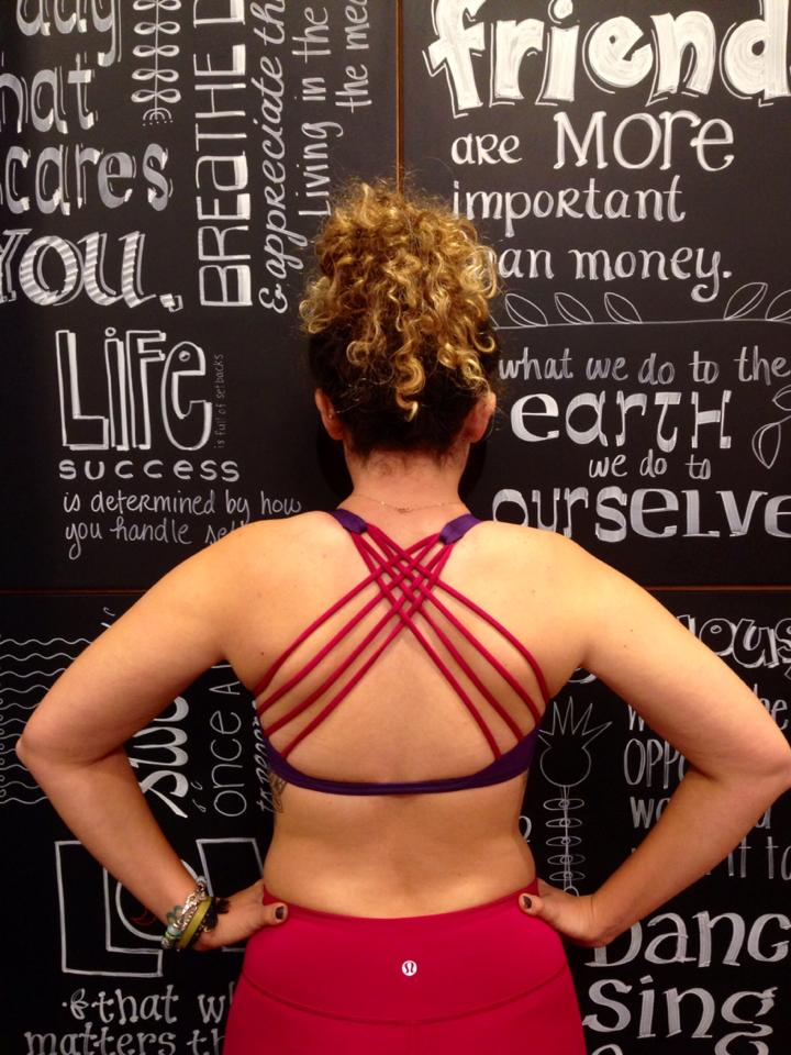 lululemon going grape bumble berry free-to-be-wild-bra wunder under pant