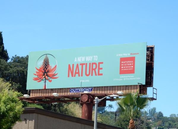 Natural History Museum LA New Way to Nature billboard