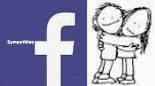 """Facebook """"Sympathise"""" Button"""