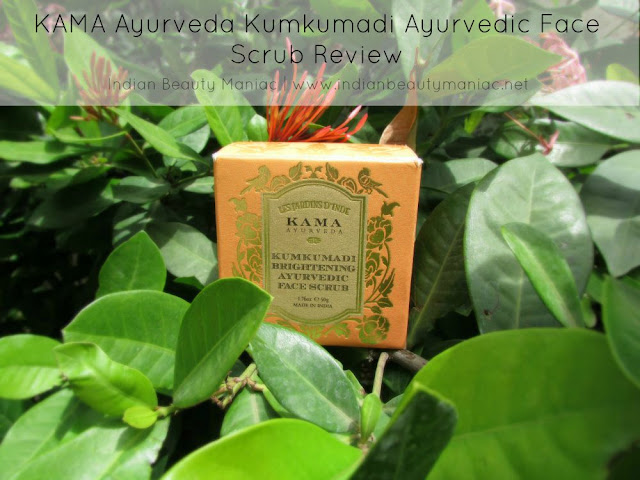 KAMA Ayurveda Kumkumadi Brightening Ayurvedic Face Scrub Review, Kama Ayurveda Products Review, Ayurveda for skincare, Skin Care, Indian Beauty Blogger, Saffron for skin, Indian Makeup Blogger