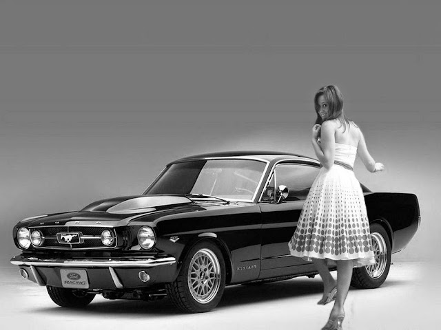 Ford Mustang and Girl