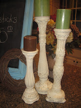 Shabby Candlesticks - set of 3