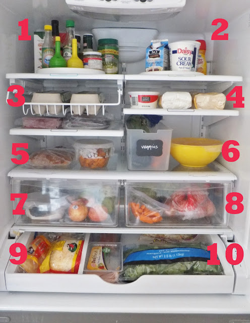 clean and organize the fridge!