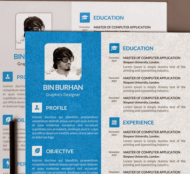 Freebie resume template with CV