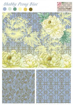 peony, floral, flower, wrought iron, repeat pattern, fabric design, acanthus, shabby chic