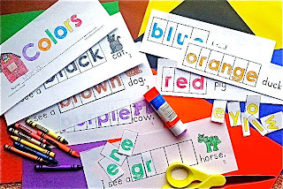 interactive emergent reader to teach sight words