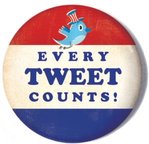 Every Tweet Counts Election Badge