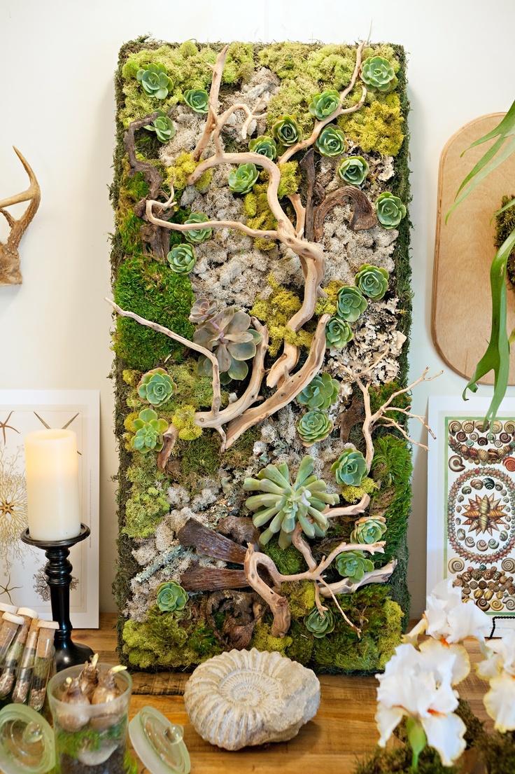 La fabrique d co tableaux v g taux un jardin d for Decoration jardin d interieur