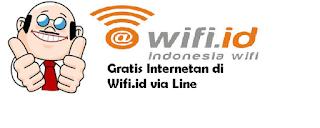 Gratis Internetan di Wifi.id via Line
