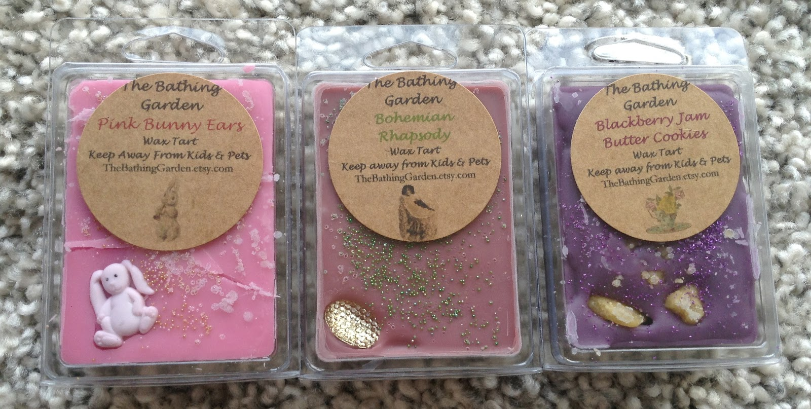 Dreams of scented wax: Couple recent The Bathing Garden hauls