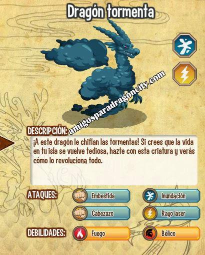 imagen del dragon tormenta y sus caracteristicas