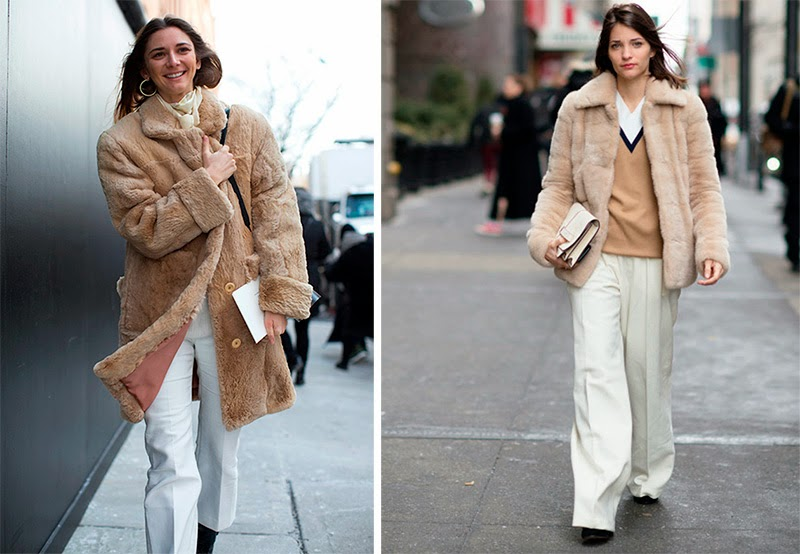 How to wear ivory and white, New York Fall Winter 2015 Fashion Week