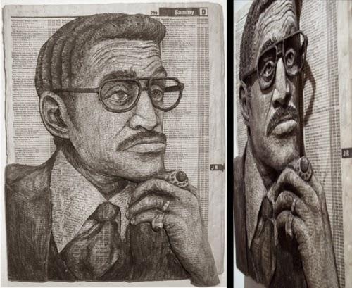 08-Sammy-Davis-Jr-Phone-Books-Sculpture-Carving-Cuban-Artist-Alex-Queral-WWW-Designstack-Co