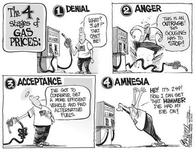 Stuart Carlson cartoon: the 4 stages of gas prices