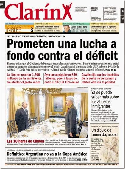 Deuda externa argentina recortes periodisticos for Noticias mas recientes del medio del espectaculo