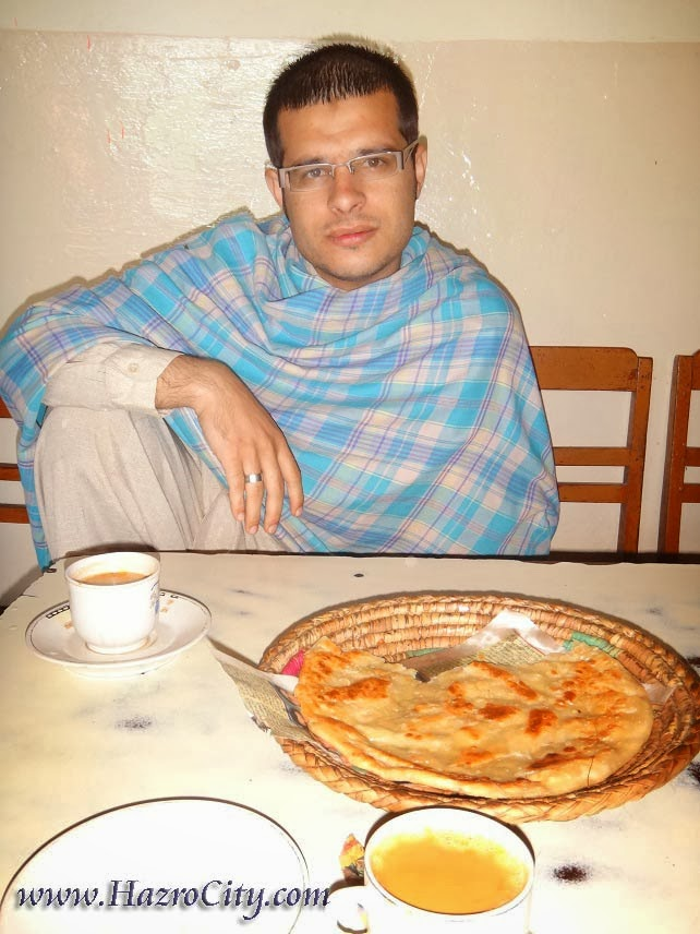 Pakistani breakfast with tea