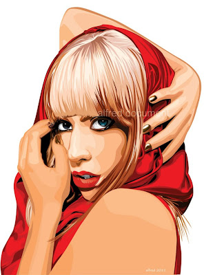Lady Gaga   Corel Draw X4/2011  Tanpa Background