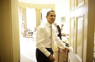 obama at door
