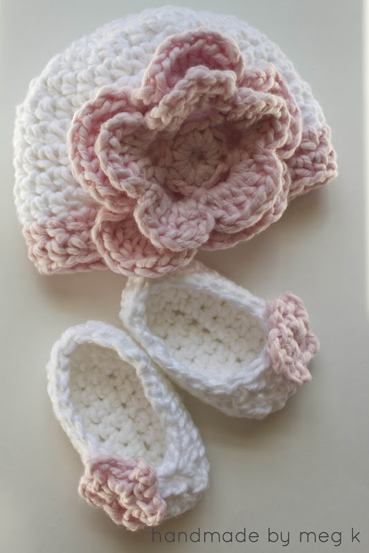 Crochet Newborn : Handmade by Meg K: Flower Newborn Hat {Crochet Pattern}