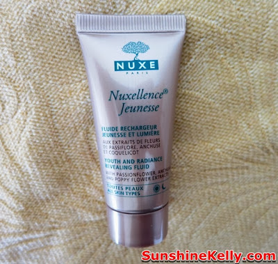 Nuxe Nuxellence, Jeunesse Pre Serum, Bag Of Love Rock On Beauty Bag Review, bag of love, red velvet clutch, skincare, beauty box,