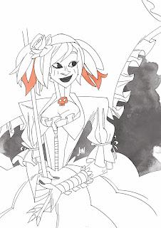 dessinateur illustrateur animateur bande dessinee croquis crayonne illustration animation artist illustrator animator comic book sketch sketches jonathan jon lankry animated doodle evening lolita gothic