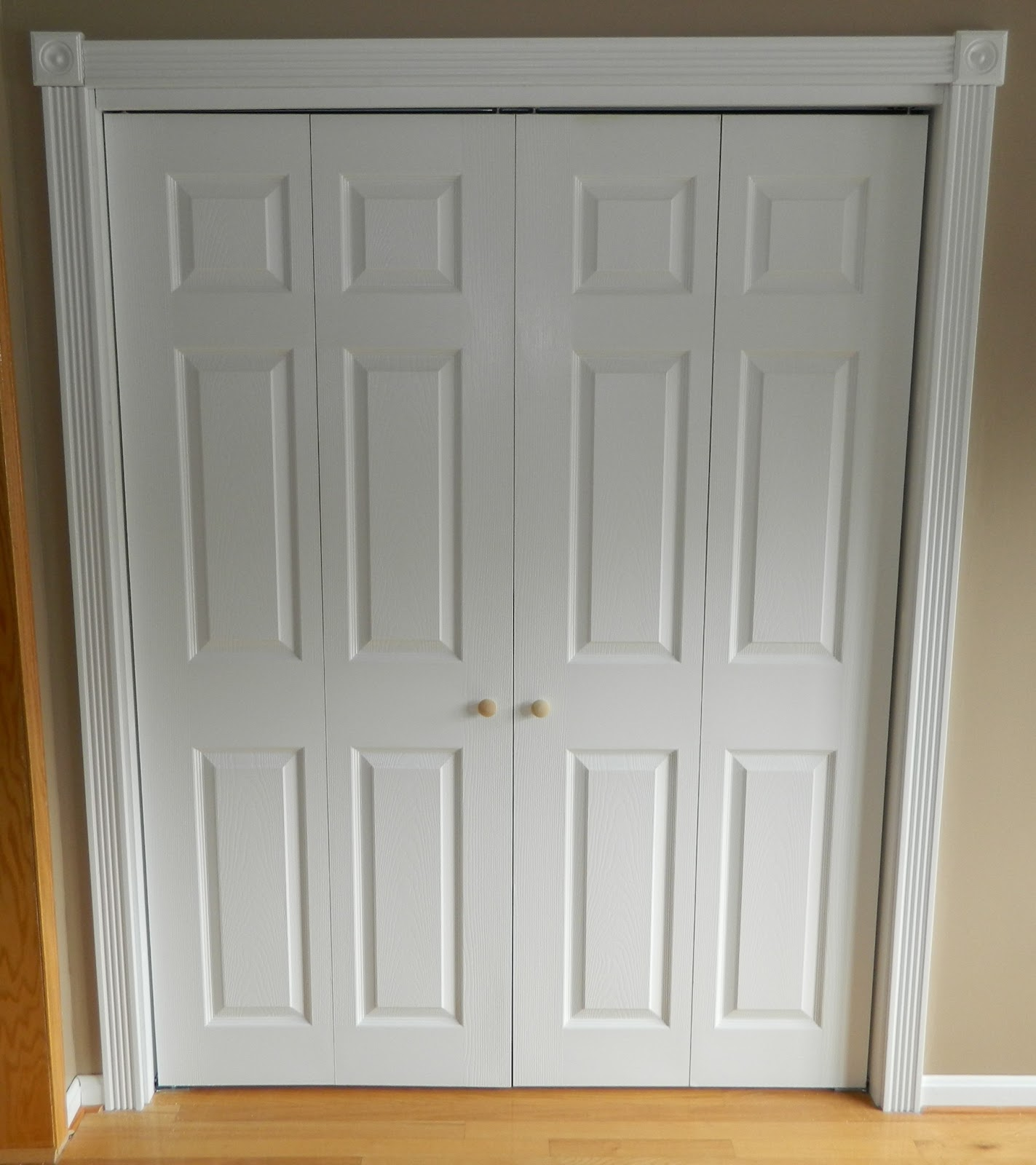 Add in some sliding doors to hide everything  I think I put the door. recommendation sliding closet doors trim   Roselawnlutheran