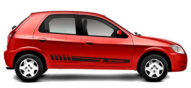 Kit adesovi faixa lateral modelo Sport Listra X11Auto e Laura Adesivos
