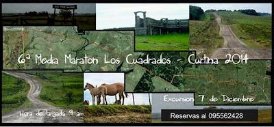 Media Maratón Los Cuadrado a Curtina (Tacuarembó, 07/dic/2014)
