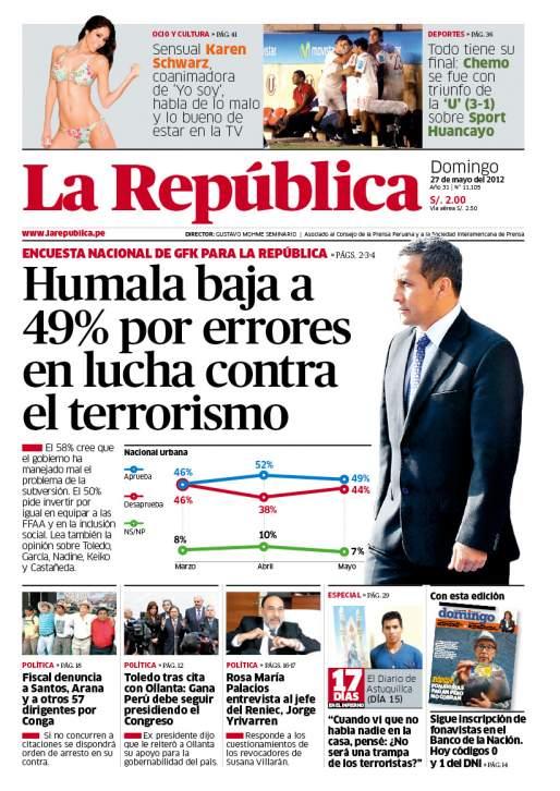 thegus blog noticias 27 mayo 2012 peru en titulares con