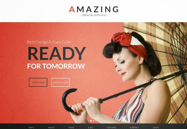 Amazing - One & Multipage Parallax Drupal Theme